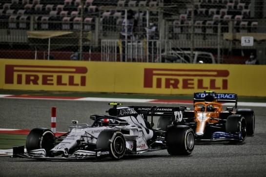 Pierre Gasly (FRA) AlphaTauri AT01. 29.11.2020. Formula 1 World Championship, Rd 15, Bahrain Grand Prix, Sakhir, Bahrain, Race Day. - www.xpbimages.com, EMail: requests@xpbimages.com © Copyright: Batchelor / XPB Images