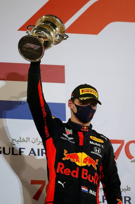 2nd place Max Verstappen (NLD) Red Bull Racing RB16.29.11.2020. Formula 1 World Championship, Rd 15, Bahrain Grand Prix, Sakhir, Bahrain, Race Day.- www.xpbimages.com, EMail: requests@xpbimages.com © Copyright: Batchelor / XPB Images