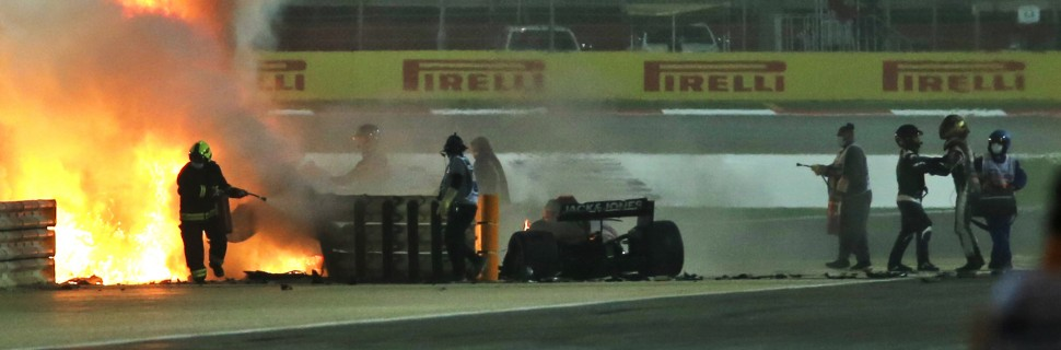 F1 doctor: 'Very small window' for Grosjean to escape inferno