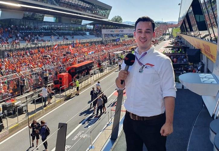 F1 commentator Alex Jacques