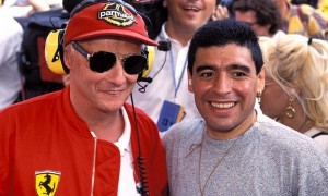 When Maradona dropped in to salute a fellow legend