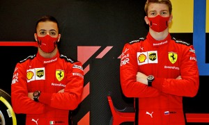Ferrari's Antonio Fuoco and Robert Shwartzman