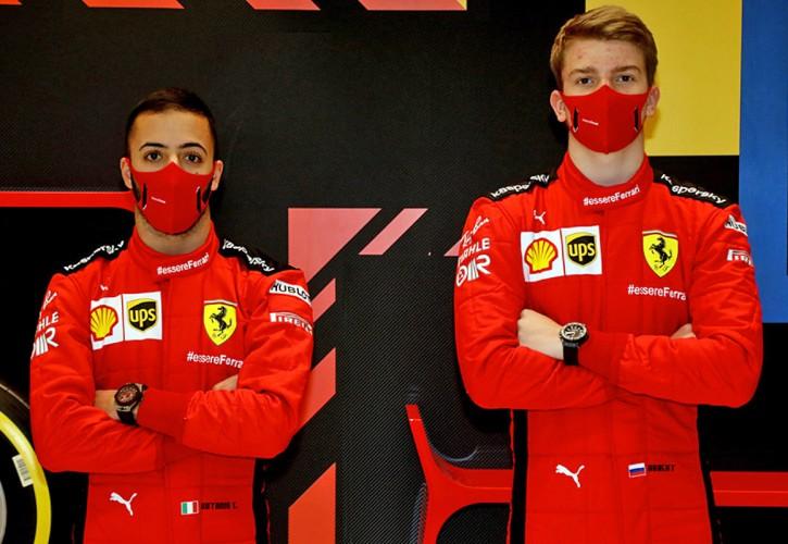 Ferrari's Antonio Fuoco and Robert Shwartzman