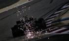 Valtteri Bottas (FIN) Mercedes AMG F1 W11 sends sparks flying.