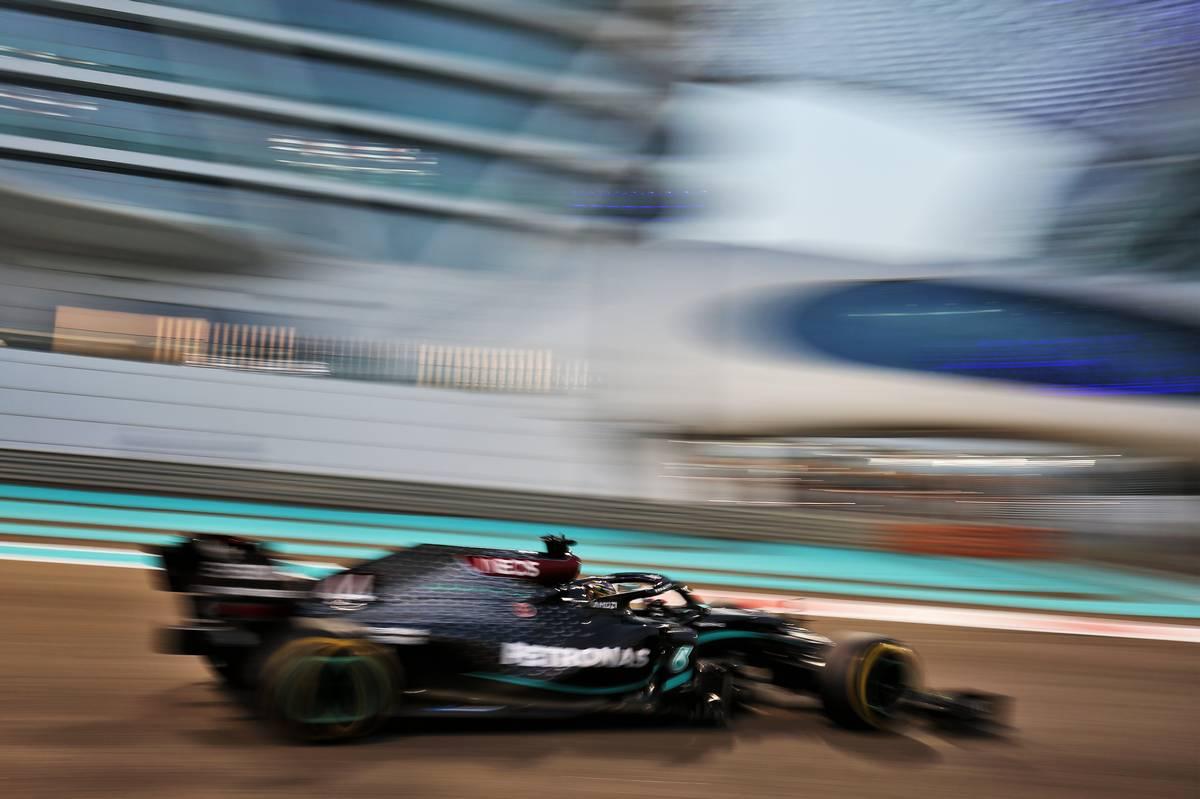 Lewis Hamilton (GBR) Mercedes AMG F1 W11. 12.12.2020. Formula 1 World Championship, Rd 17, Abu Dhabi Grand Prix, Yas Marina Circuit