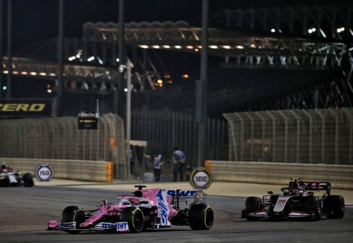 Sergio Perez (MEX) Racing Point F1 Team RP19. 06.12.2020. Formula 1 World Championship, Rd 16, Sakhir Grand Prix