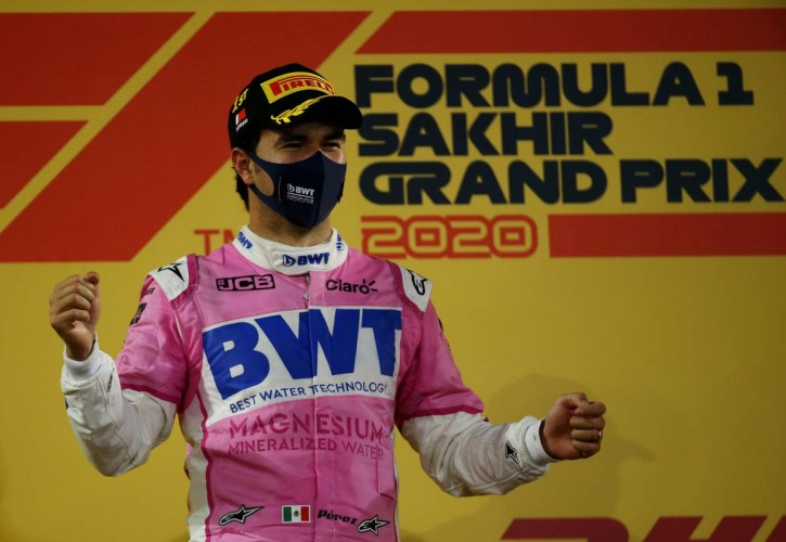 1st place Sergio Perez (MEX) Racing Point F1 Team RP19. 06.12.2020. Formula 1 World Championship, Rd 16, Sakhir Grand Prix