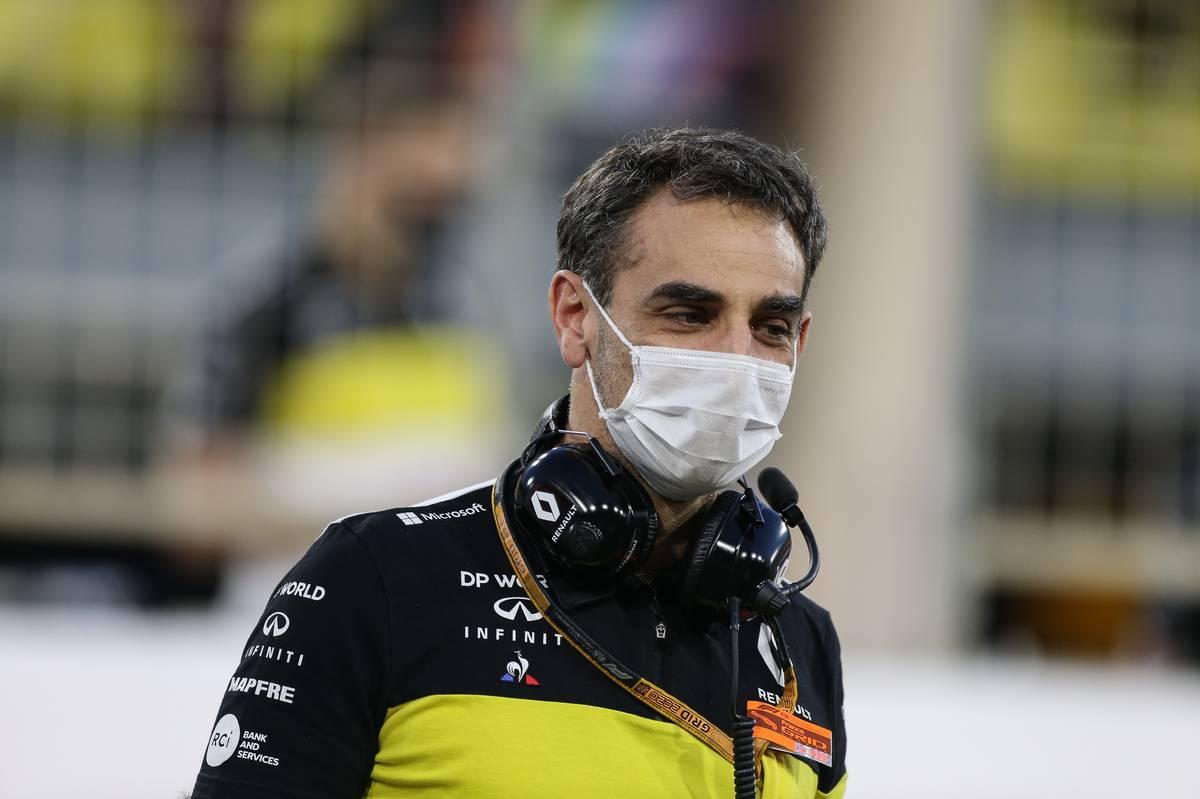 Cyril Abiteboul (FRA) Renault Sport F1 Managing Director on the grid. 29.11.2020. Formula 1 World Championship, Rd 15, Bahrain Grand Prix