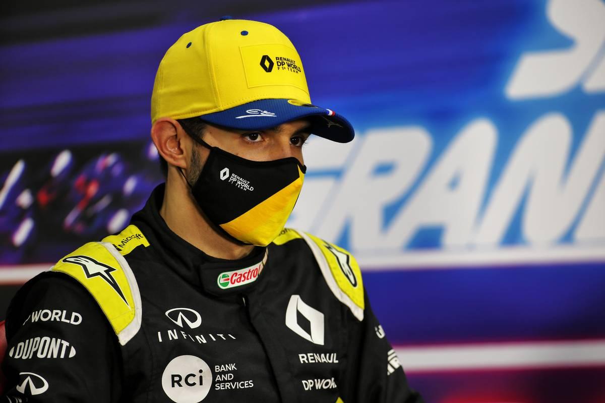 Esteban Ocon (FRA) Renault F1 Team in the post race FIA Press Conference. 06.12.2020. Formula 1 World Championship, Rd 16, Sakhir Grand Prix