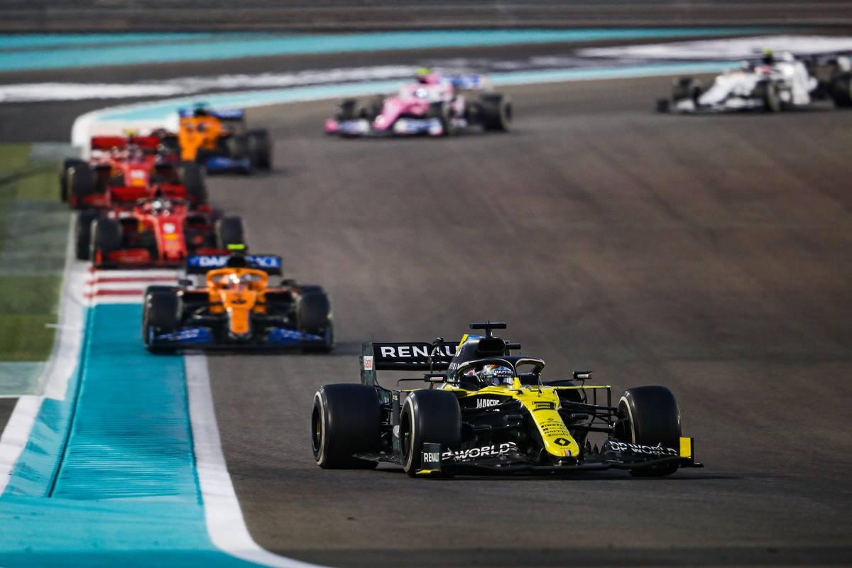 Daniel Ricciardo (AUS) Renault F1 Team RS20. 13.12.2020. Formula 1 World Championship, Rd 17, Abu Dhabi Grand Prix