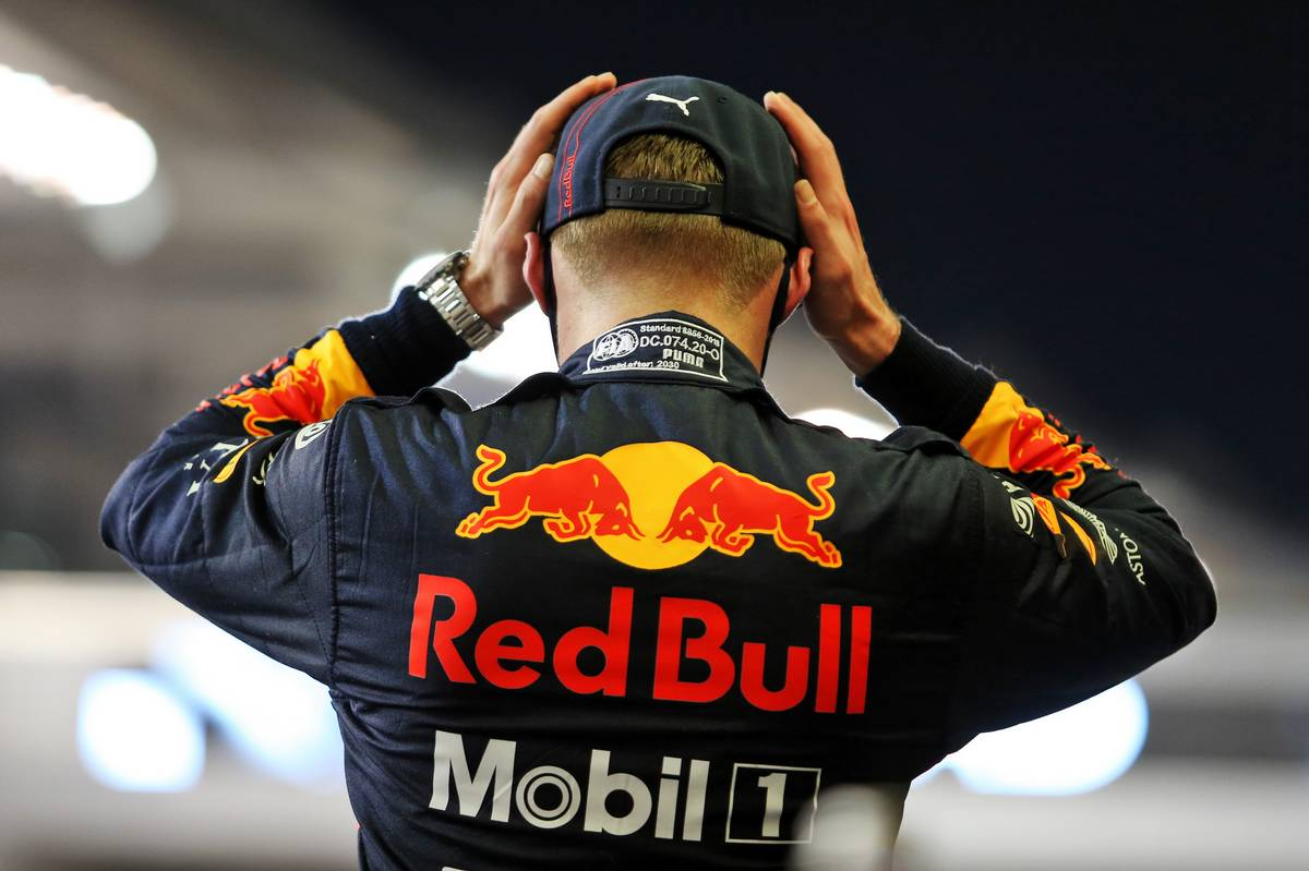 Max Verstappen (NLD) Red Bull Racing celebrates his pole position in qualifying parc ferme. 12.12.2020. Formula 1 World Championship, Rd 17, Abu Dhabi Grand Prix