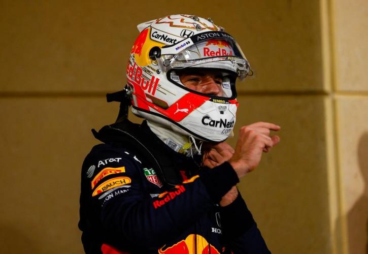 Max Verstappen (NLD) Red Bull Racing in qualifying parc ferme. 05.12.2020. Formula 1 World Championship, Rd 16, Sakhir Grand Prix