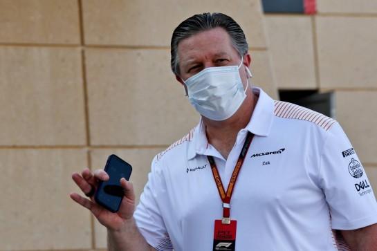 Zak Brown (USA) McLaren Executive Director. 03.12.2020. Formula 1 World Championship, Rd 16, Sakhir Grand Prix, Sakhir, Bahrain, Preparation Day. - www.xpbimages.com, EMail: requests@xpbimages.com © Copyright: Batchelor / XPB Images