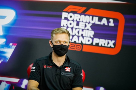 Kevin Magnussen (DEN) Haas F1 Team in the FIA Press Conference. 03.12.2020. Formula 1 World Championship, Rd 16, Sakhir Grand Prix, Sakhir, Bahrain, Preparation Day. - www.xpbimages.com, EMail: requests@xpbimages.com © Copyright: FIA Pool Image for Editorial Use Only