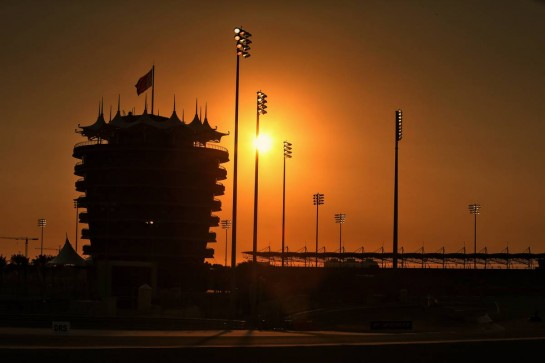 Circuit atmosphere - sunset.