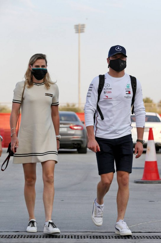 (L to R): Tiffany Cromwell (AUS) Professional Cyclist with boyfriend Valtteri Bottas (FIN) Mercedes AMG F1.