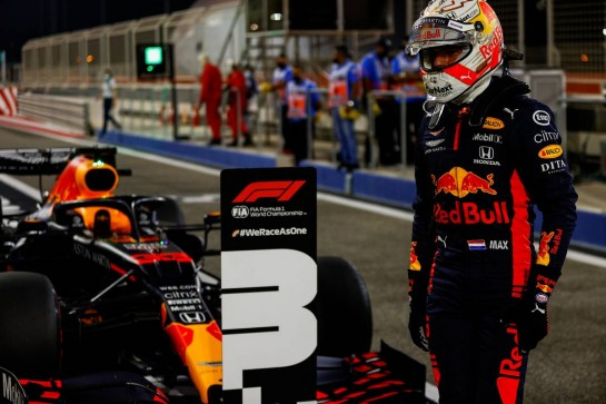 Third placed Max Verstappen (NLD) Red Bull Racing RB16 in qualifying parc ferme.