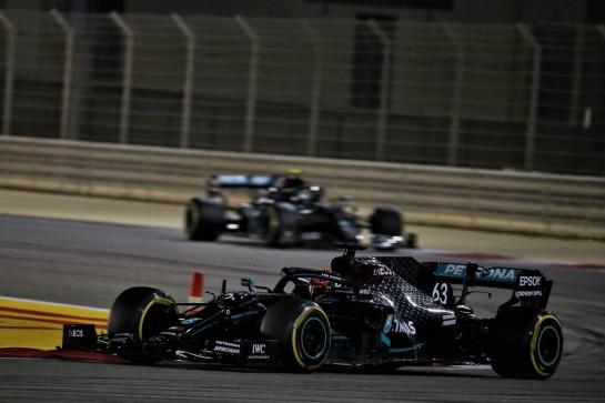 George Russell (GBR) Mercedes AMG F1 W11. 06.12.2020. Formula 1 World Championship, Rd 16, Sakhir Grand Prix, Sakhir, Bahrain, Race Day. - www.xpbimages.com, EMail: requests@xpbimages.com © Copyright: Batchelor / XPB Images
