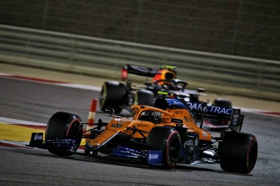 Lando Norris (GBR) McLaren MCL35. 06.12.2020. Formula 1 World Championship, Rd 16, Sakhir Grand Prix, Sakhir, Bahrain, Race Day. - www.xpbimages.com, EMail: requests@xpbimages.com © Copyright: Batchelor / XPB Images