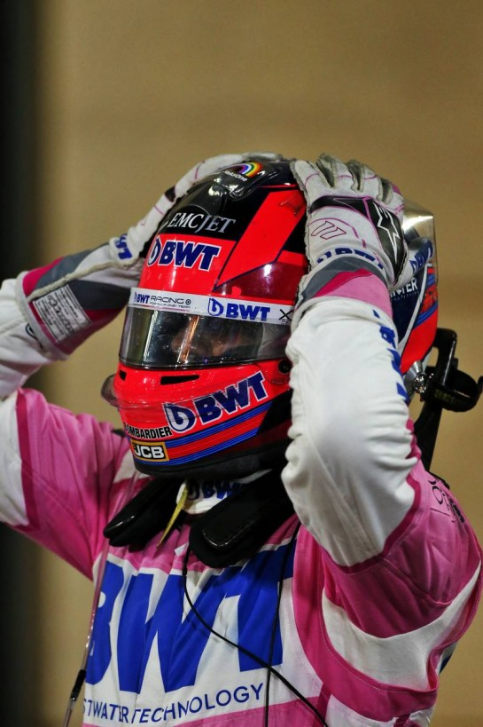 Race winner Sergio Perez (MEX) Racing Point F1 Team celebrates in parc ferme. 06.12.2020. Formula 1 World Championship, Rd 16, Sakhir Grand Prix, Sakhir, Bahrain, Race Day. - www.xpbimages.com, EMail: requests@xpbimages.com © Copyright: Moy / XPB Images
