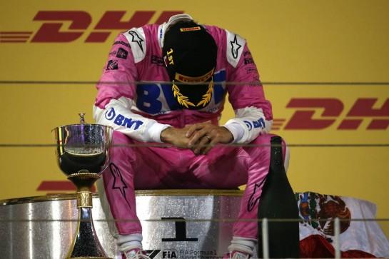 1st place Sergio Perez (MEX) Racing Point F1 Team RP19.06.12.2020. Formula 1 World Championship, Rd 16, Sakhir Grand Prix, Sakhir, Bahrain, Race Day.- www.xpbimages.com, EMail: requests@xpbimages.com © Copyright: Batchelor / XPB Images
