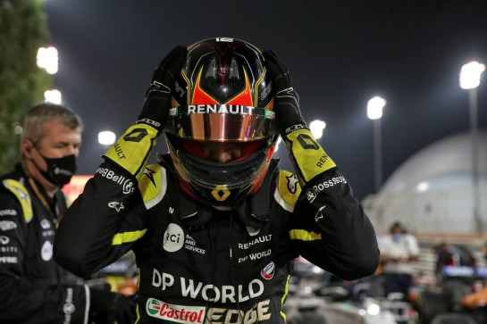 Esteban Ocon (FRA) Renault F1 Team celebrates his second position in parc ferme. 06.12.2020. Formula 1 World Championship, Rd 16, Sakhir Grand Prix, Sakhir, Bahrain, Race Day. - www.xpbimages.com, EMail: requests@xpbimages.com © Copyright: Batchelor / XPB Images