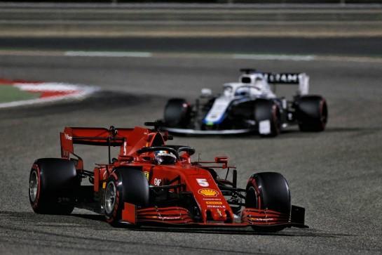 Sebastian Vettel (GER) Ferrari SF1000. 06.12.2020. Formula 1 World Championship, Rd 16, Sakhir Grand Prix, Sakhir, Bahrain, Race Day. - www.xpbimages.com, EMail: requests@xpbimages.com © Copyright: Moy / XPB Images