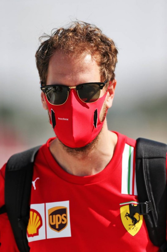 Sebastian Vettel (GER) Ferrari. 10.12.2020. Formula 1 World Championship, Rd 17, Abu Dhabi Grand Prix, Yas Marina Circuit, Abu Dhabi, Preparation Day. - www.xpbimages.com, EMail: requests@xpbimages.com © Copyright: Moy / XPB Images