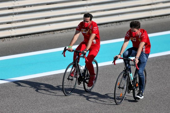 Charles Leclerc (MON) Ferrari rides the circuit. 10.12.2020. Formula 1 World Championship, Rd 17, Abu Dhabi Grand Prix, Yas Marina Circuit, Abu Dhabi, Preparation Day. - www.xpbimages.com, EMail: requests@xpbimages.com © Copyright: Moy / XPB Images