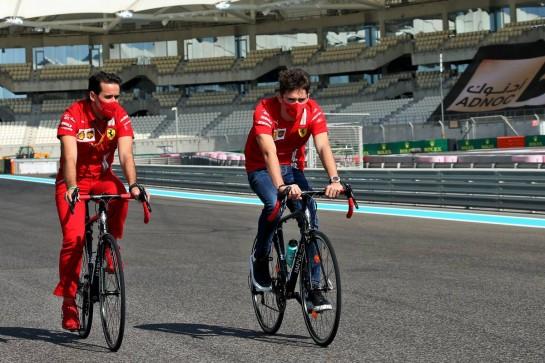 Charles Leclerc (MON) Ferrari rides the circuit. 10.12.2020. Formula 1 World Championship, Rd 17, Abu Dhabi Grand Prix, Yas Marina Circuit, Abu Dhabi, Preparation Day. - www.xpbimages.com, EMail: requests@xpbimages.com © Copyright: Batchelor / XPB Images