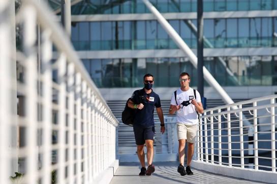 Daniil Kvyat (RUS) AlphaTauri. 10.12.2020. Formula 1 World Championship, Rd 17, Abu Dhabi Grand Prix, Yas Marina Circuit, Abu Dhabi, Preparation Day. - www.xpbimages.com, EMail: requests@xpbimages.com © Copyright: Moy / XPB Images