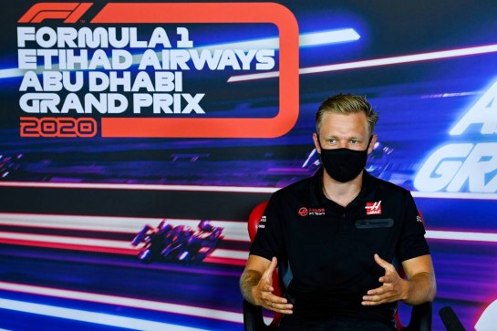 Kevin Magnussen (DEN) Haas F1 Team in the FIA Press Conference. 10.12.2020. Formula 1 World Championship, Rd 17, Abu Dhabi Grand Prix, Yas Marina Circuit, Abu Dhabi, Preparation Day. - www.xpbimages.com, EMail: requests@xpbimages.com © Copyright: FIA Pool Image for Editorial Use Only