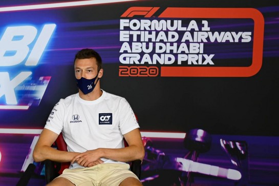 Daniil Kvyat (RUS) AlphaTauri in the FIA Press Conference. 10.12.2020. Formula 1 World Championship, Rd 17, Abu Dhabi Grand Prix, Yas Marina Circuit, Abu Dhabi, Preparation Day. - www.xpbimages.com, EMail: requests@xpbimages.com © Copyright: FIA Pool Image for Editorial Use Only