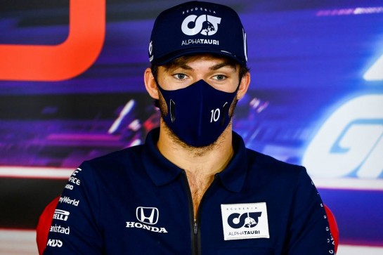 Pierre Gasly (FRA) AlphaTauri in the FIA Press Conference. 10.12.2020. Formula 1 World Championship, Rd 17, Abu Dhabi Grand Prix, Yas Marina Circuit, Abu Dhabi, Preparation Day. - www.xpbimages.com, EMail: requests@xpbimages.com © Copyright: FIA Pool Image for Editorial Use Only