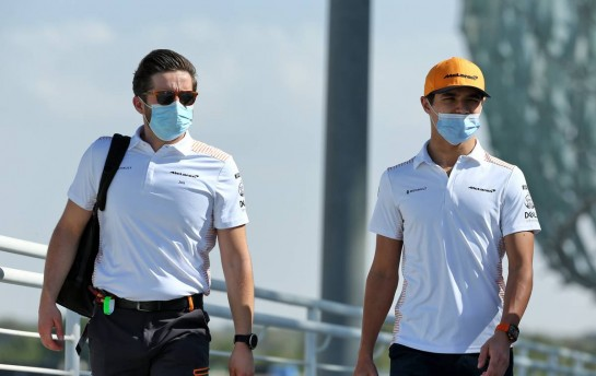 Lando Norris (GBR) McLaren. 11.12.2020. Formula 1 World Championship, Rd 17, Abu Dhabi Grand Prix, Yas Marina Circuit, Abu Dhabi, Practice Day. - www.xpbimages.com, EMail: requests@xpbimages.com © Copyright: Batchelor / XPB Images