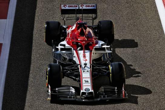 Kimi Raikkonen (FIN) Alfa Romeo Racing C39. 11.12.2020. Formula 1 World Championship, Rd 17, Abu Dhabi Grand Prix, Yas Marina Circuit, Abu Dhabi, Practice Day. - www.xpbimages.com, EMail: requests@xpbimages.com © Copyright: Batchelor / XPB Images