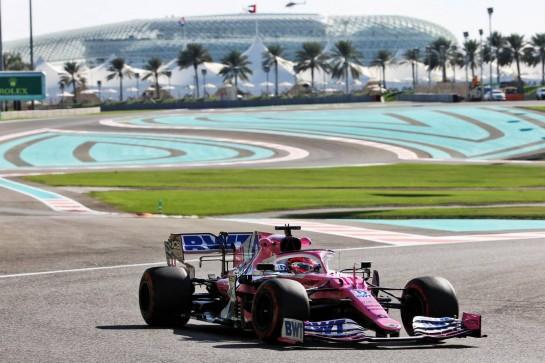 Sergio Perez (MEX) Racing Point F1 Team RP19. 11.12.2020. Formula 1 World Championship, Rd 17, Abu Dhabi Grand Prix, Yas Marina Circuit, Abu Dhabi, Practice Day. - www.xpbimages.com, EMail: requests@xpbimages.com © Copyright: Batchelor / XPB Images