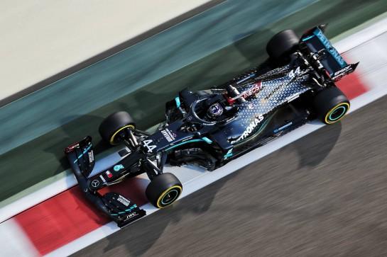 Lewis Hamilton (GBR) Mercedes AMG F1 W11. 11.12.2020. Formula 1 World Championship, Rd 17, Abu Dhabi Grand Prix, Yas Marina Circuit, Abu Dhabi, Practice Day. - www.xpbimages.com, EMail: requests@xpbimages.com © Copyright: Charniaux / XPB Images