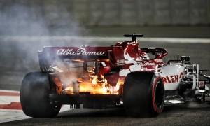 Cool Raikkonen says 'nothing scary' about Alfa blaze
