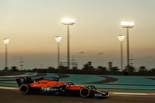 Lando Norris (GBR) McLaren MCL35. 11.12.2020. Formula 1 World Championship, Rd 17, Abu Dhabi Grand Prix, Yas Marina Circuit, Abu Dhabi, Practice Day. - www.xpbimages.com, EMail: requests@xpbimages.com © Copyright: Batchelor / XPB Images