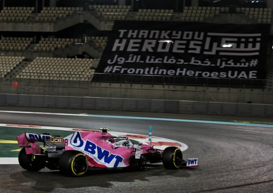 Lance Stroll (CDN) Racing Point F1 Team RP20. 11.12.2020. Formula 1 World Championship, Rd 17, Abu Dhabi Grand Prix, Yas Marina Circuit, Abu Dhabi, Practice Day. - www.xpbimages.com, EMail: requests@xpbimages.com © Copyright: Batchelor / XPB Images