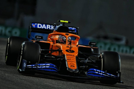Lando Norris (GBR) McLaren MCL35. 11.12.2020. Formula 1 World Championship, Rd 17, Abu Dhabi Grand Prix, Yas Marina Circuit, Abu Dhabi, Practice Day. - www.xpbimages.com, EMail: requests@xpbimages.com © Copyright: Moy / XPB Images