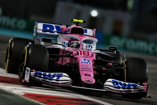 Lance Stroll (CDN) Racing Point F1 Team RP20. 11.12.2020. Formula 1 World Championship, Rd 17, Abu Dhabi Grand Prix, Yas Marina Circuit, Abu Dhabi, Practice Day. - www.xpbimages.com, EMail: requests@xpbimages.com © Copyright: Moy / XPB Images