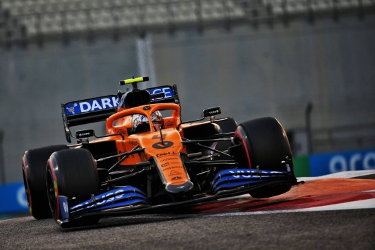 Lando Norris (GBR) McLaren MCL35. 12.12.2020. Formula 1 World Championship, Rd 17, Abu Dhabi Grand Prix, Yas Marina Circuit, Abu Dhabi, Qualifying Day. - www.xpbimages.com, EMail: requests@xpbimages.com © Copyright: Batchelor / XPB Images