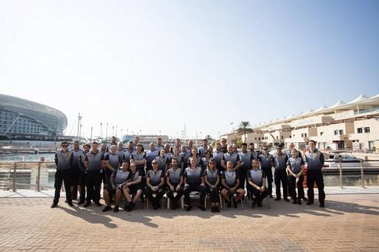 Pirelli group photograph. 13.12.2020. Formula 1 World Championship, Rd 17, Abu Dhabi Grand Prix, Yas Marina Circuit, Abu Dhabi, Race Day. - www.xpbimages.com, EMail: requests@xpbimages.com © Copyright: Bearne / XPB Images