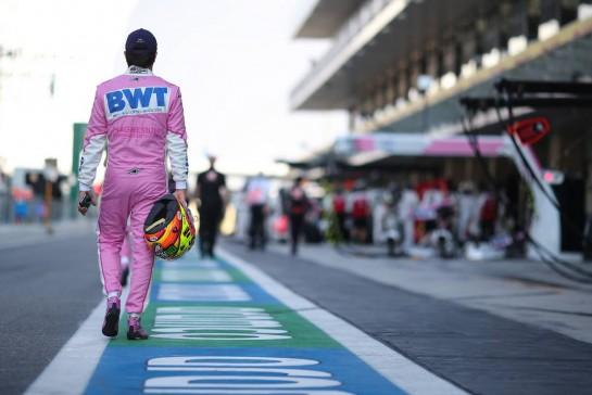 Sergio Perez (MEX) Racing Point F1 Team. 13.12.2020. Formula 1 World Championship, Rd 17, Abu Dhabi Grand Prix, Yas Marina Circuit, Abu Dhabi, Race Day. - www.xpbimages.com, EMail: requests@xpbimages.com © Copyright: Charniaux / XPB Images