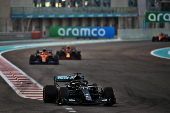 Lewis Hamilton (GBR) Mercedes AMG F1 W11. 13.12.2020. Formula 1 World Championship, Rd 17, Abu Dhabi Grand Prix, Yas Marina Circuit, Abu Dhabi, Race Day. - www.xpbimages.com, EMail: requests@xpbimages.com © Copyright: Batchelor / XPB Images