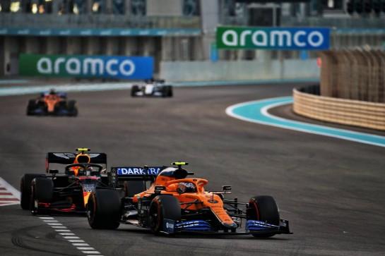 Lando Norris (GBR) McLaren MCL35. 13.12.2020. Formula 1 World Championship, Rd 17, Abu Dhabi Grand Prix, Yas Marina Circuit, Abu Dhabi, Race Day. - www.xpbimages.com, EMail: requests@xpbimages.com © Copyright: Batchelor / XPB Images