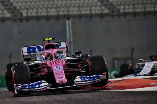 Lance Stroll (CDN) Racing Point F1 Team RP20. 13.12.2020. Formula 1 World Championship, Rd 17, Abu Dhabi Grand Prix, Yas Marina Circuit, Abu Dhabi, Race Day. - www.xpbimages.com, EMail: requests@xpbimages.com © Copyright: Batchelor / XPB Images