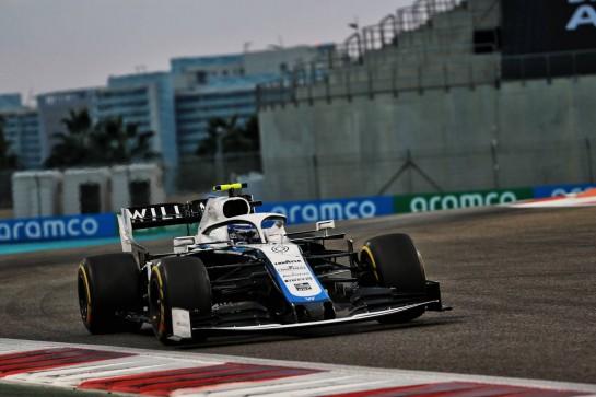 Nicholas Latifi (CDN) Williams Racing FW43. 13.12.2020. Formula 1 World Championship, Rd 17, Abu Dhabi Grand Prix, Yas Marina Circuit, Abu Dhabi, Race Day. - www.xpbimages.com, EMail: requests@xpbimages.com © Copyright: Batchelor / XPB Images